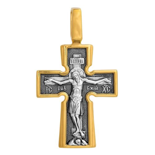 Neck Cross Akimov 101.039 «Crucifix. The Mother of God «Incarnation». Five Holy Patriarchs»