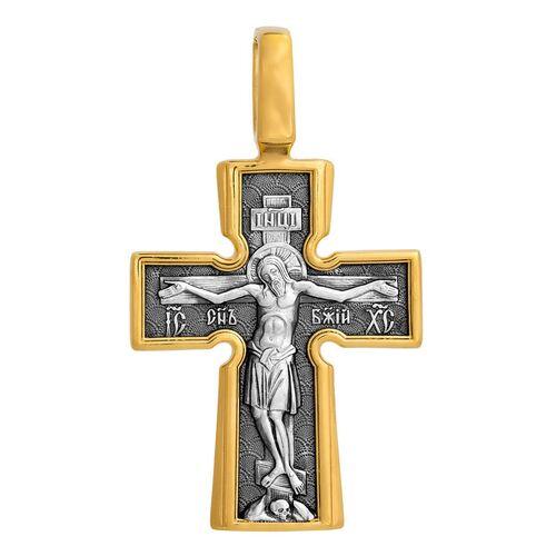 Хрест натільний Акімов 101.039 «Розп'яття. Божа Матір «Втілення». П'ять святителів »