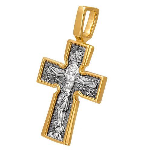 Крест нательный Акимов 101.039 «Распятие. Божия Матерь «Воплощение». Пять святителей»