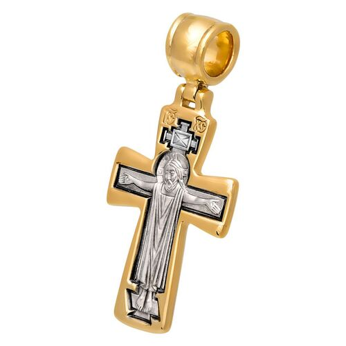 Neck Cross Akimov 101.046 «Crucifix. The Mother of God «Orant»