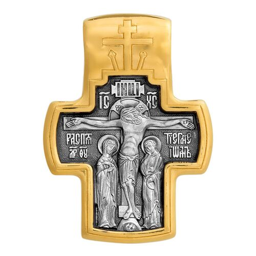 Neck Cross Akimov 101.055 «Crucifix. Meeting of the Lord»