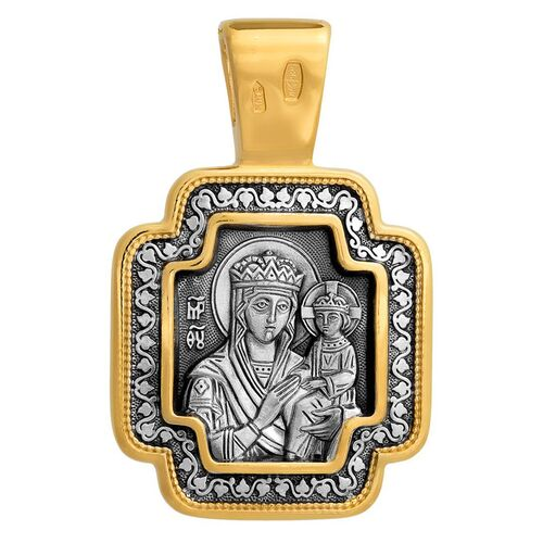 Neck Cross Akimov 101.058 «The Lord Almighty (Christ Pantocrator). The Mother of God «Surety of Sinners»