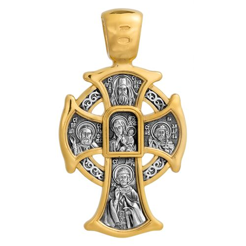 Neck Cross Akimov 101.061 «The Lord Almighty. The Mother of God Icon «Comfort and Consolation»