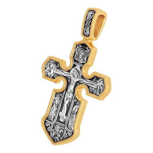 Крест нательный Акимов 101.062 «Распятие. Казанская икона Божией Матери с предстоящими святыми»