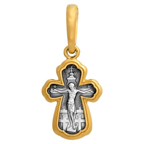 Neck Cross Akimov 101.070 «Crucifix. St. Demetrius Tsarevich of Uglich. Guardian Angel»