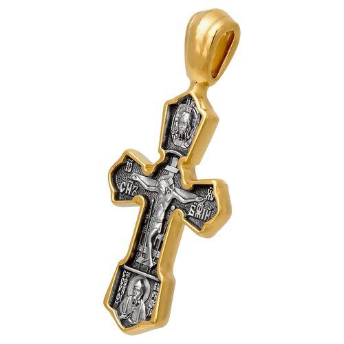 Крест нательный Акимов 101.243 «Распятие. Свт. Николай Чудотворец»